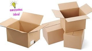6 SURPRISING WAYS TO TRANSFORM CARDBOARD BOX| BEST REUSE IDEA