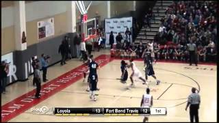 Andrew Harrison no look pass to Juwan Williams with the easy layup for Fort Bend Travis