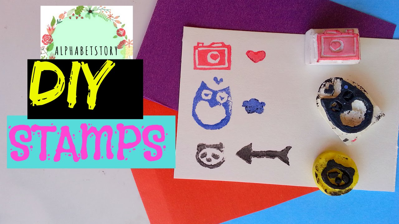 Diy rubber stamp without carving tools easy and cheap