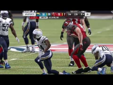 Madden NFL 17 (PS4) Super Bowl LI - Tampa Bay Buccaneers vs. San Diego Chargers (Part 1)
