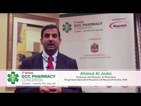 Ahmed Al Jedai on his thoughts about the 3rd GCC Pharmacy Congress