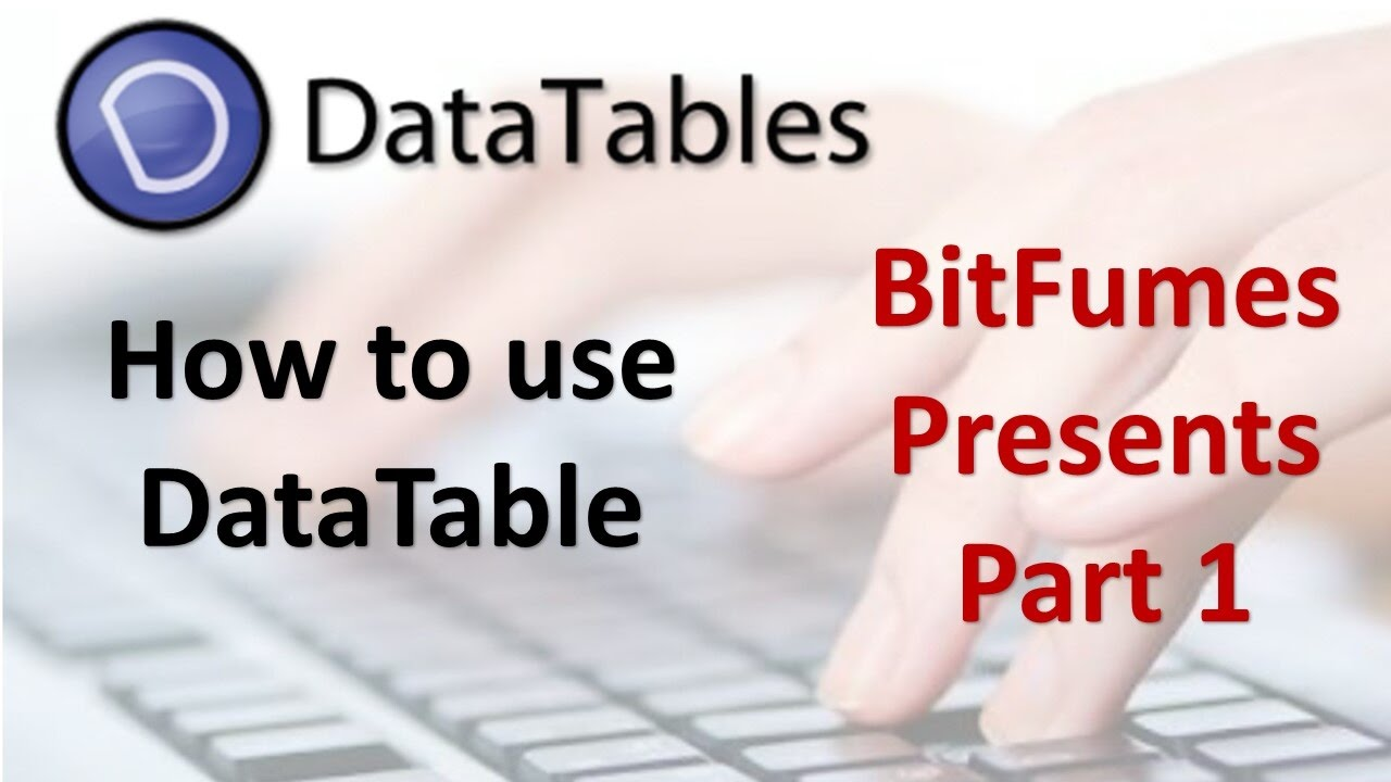 Datatable tutorial part 1 how to use database bitfumes youtube datatable tutorial part 1 how to use database bitfumes baditri Images
