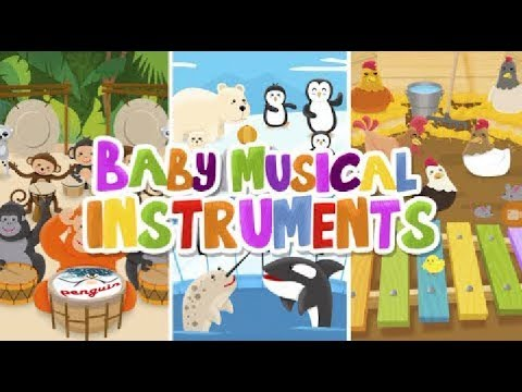 Bady musical instruments. Make funny music. Kids game.🎼
