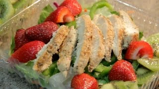 "Heathy Affordable Lunch Special "" Chicken Strip Salad W/fruits"""