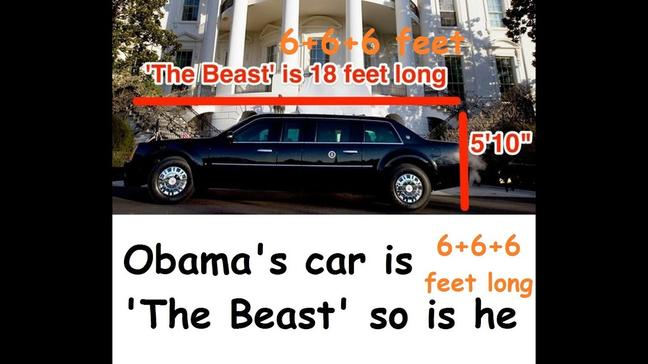 us president obama 39 s car is the beast 666feet long youtube. Black Bedroom Furniture Sets. Home Design Ideas