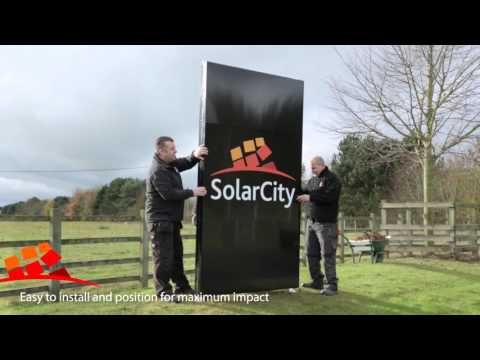 New Solar-powered LED display signs