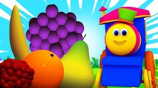 Bob Fruit Train | Learn Names Of Fruits | फलों के नाम सींखे | Bob And Fruits | Fruits Train In Hindi