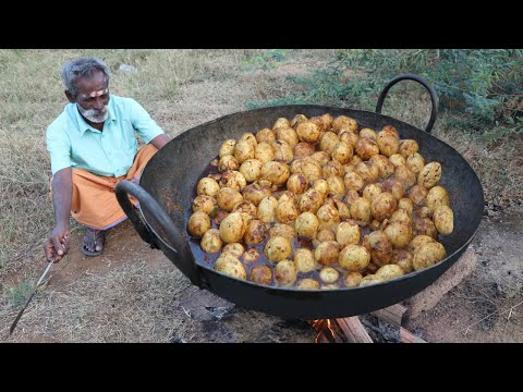 EGG Gravy !!! Muttai Kuzhambu Prepared by My Daddy ARUMUGAM / Village food factory