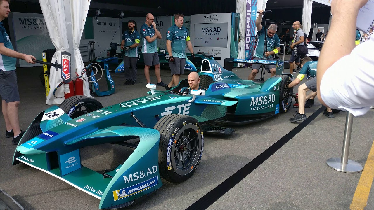 2017 18 Formula E Hong Kong Eprix Ms Ad Andretti Pit Stop Practice