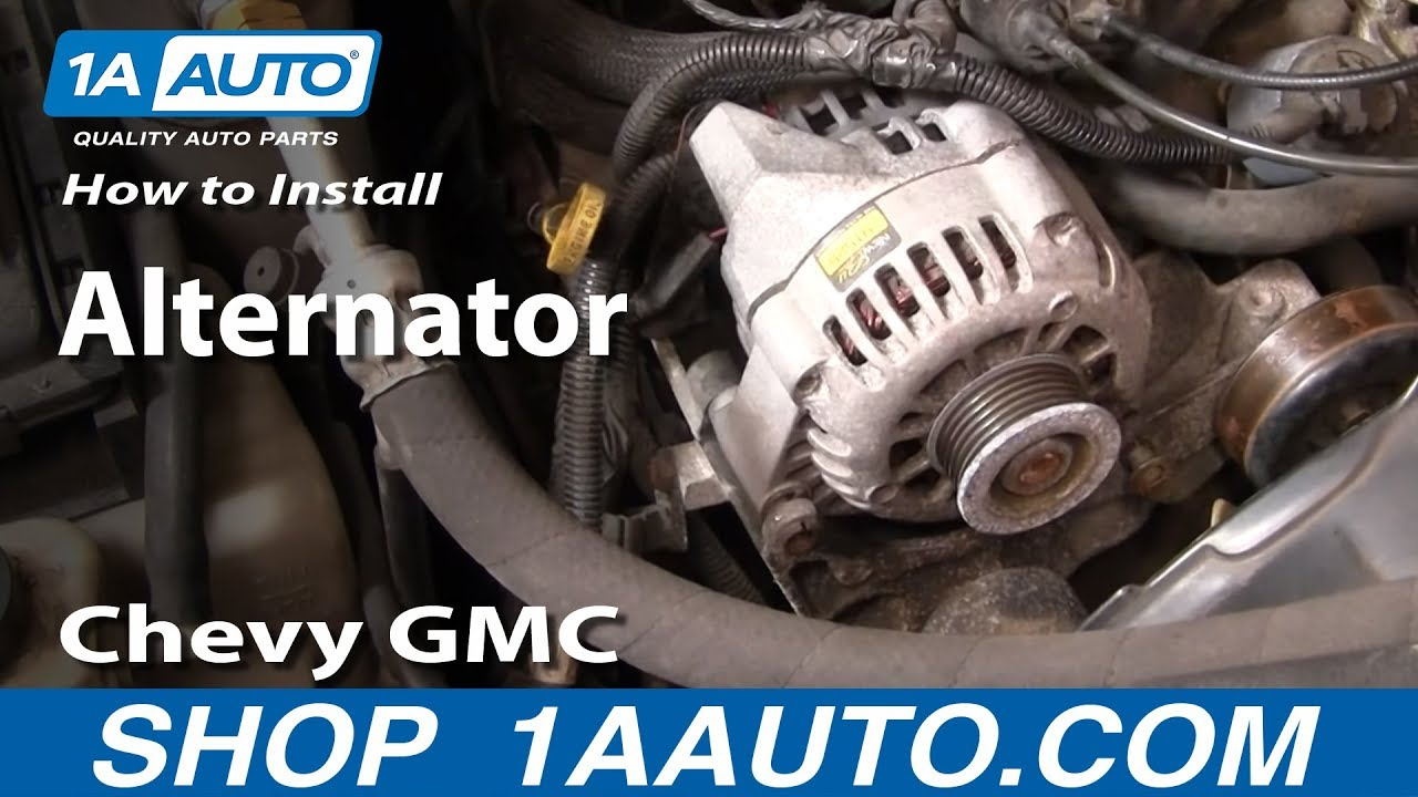 How To Install Repalce Alternator Chevy Gmc S 10 15 Blazer Jimmy 2000 2 Door Under Hood Fuse Box Diagram Pickup 43l 98 00 1aautocom Youtube