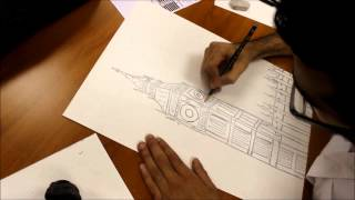 """Fast Sketch Design For """"Big Ben"""" By Mohammed Kaaki"""