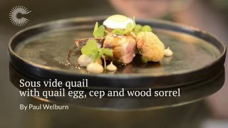 Pan-roasted quail, herbs and fried egg