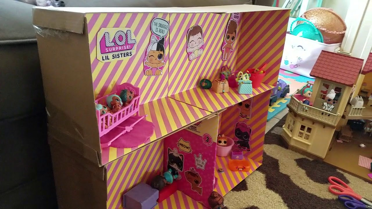 Custom Built Lol Surprise Doll House Diy Getting Creative With