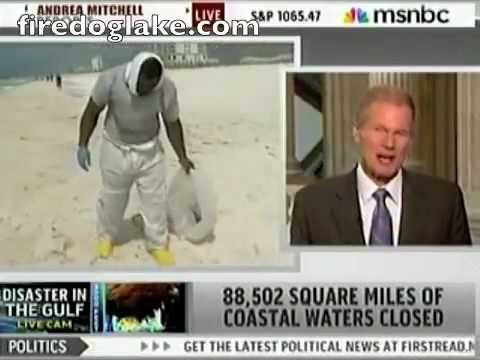 Sen. Bill Nelson: Reports of oil seeping up from seabed, well casing may be pierced.