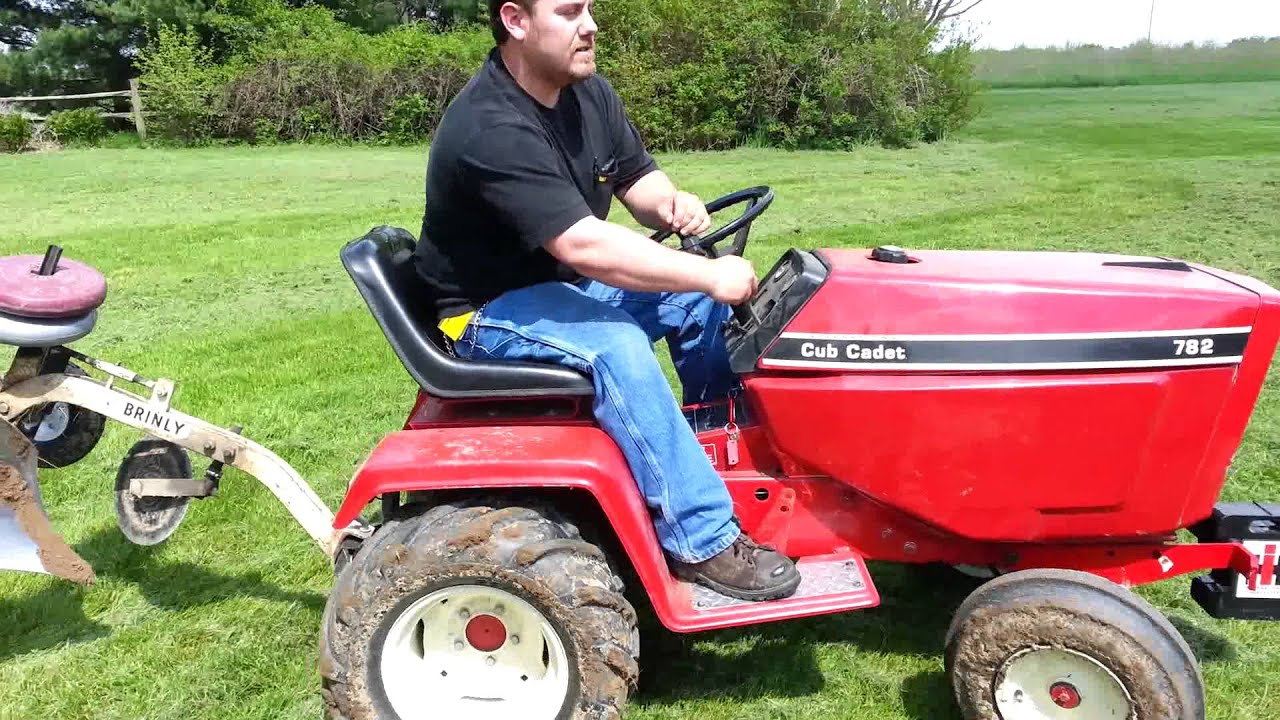 782 Cub Cadet Garden Tractor : Ih cub cadet plowing youtube