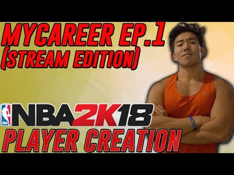 NBA 2K18 MYPLAYER CREATION & INTRO(PROVING GROUNDS, TRAINING)  SHOT CREATING PLAYMAKER BUILD