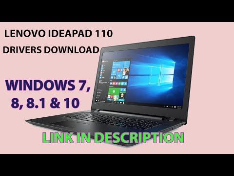Lenovo Ideapad 110 Drivers Download (windows 7/8/8 1/10) - YouTube