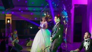 Шоу мыльных пузырей «BubbleMan» на свадьбу