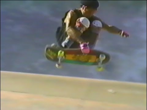 Tony Alva, Ron Emory,  Don Hamilton backyard  Pool  Session 1989.