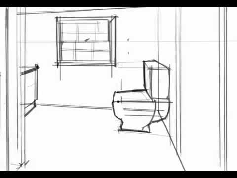 Tutorial Bathroom Perspective Youtube