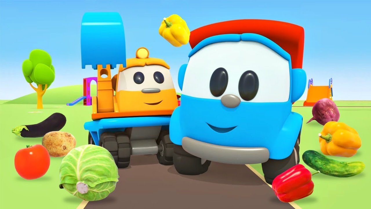 Nursery rhymes & songs for babies. Leo the Truck cartoons.The Fruits and Vegetable @Songs for Kids