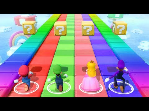 Super Mario Party ! Rhythm Minigames ! Mairo vs Peach vs Waluigi vs Luigi (Try Hard)