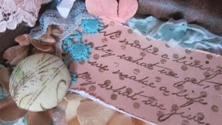 Romantic Shabby Chic  Easel Card Process Video