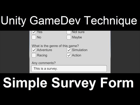Simple Survey Form | Unity GameDev Techinque