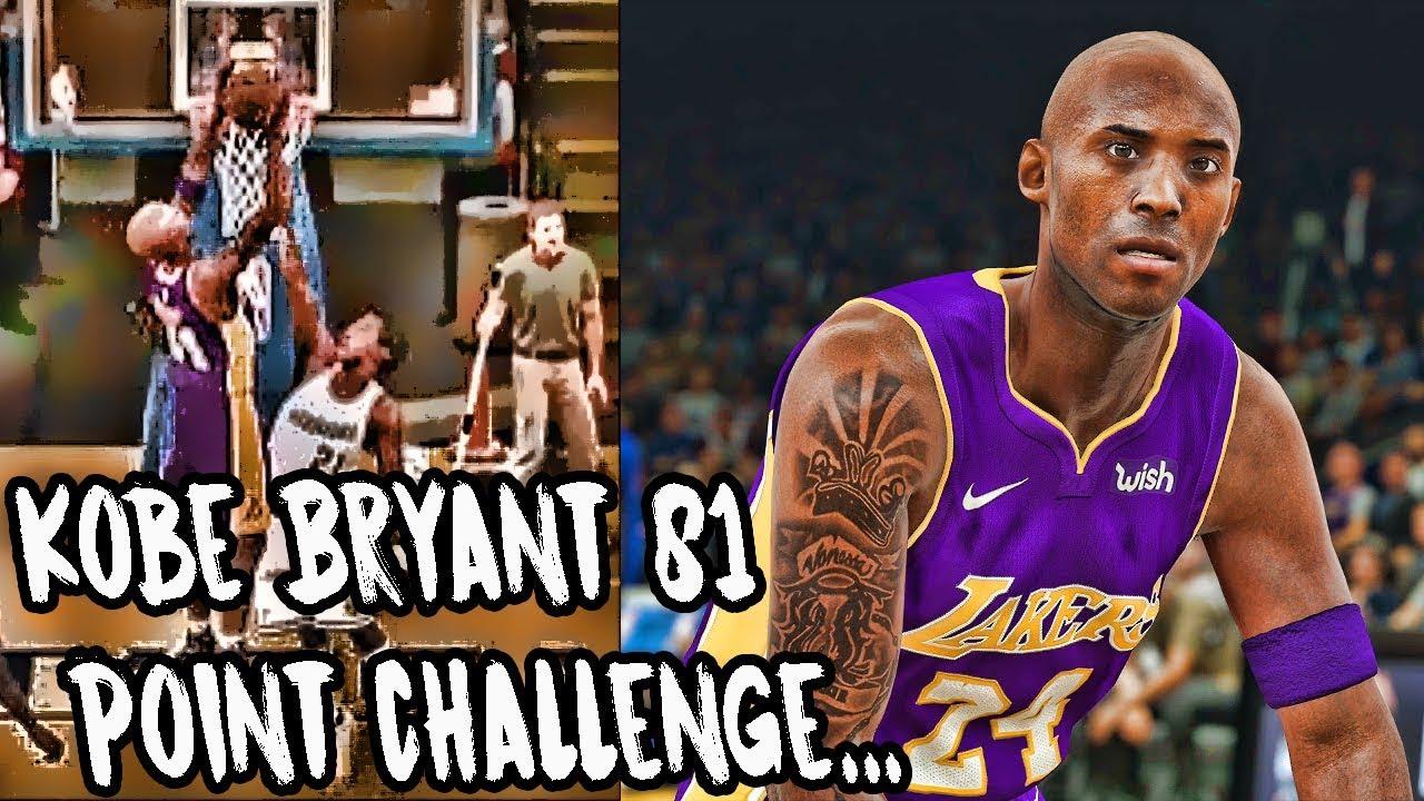 Legendary Kobe Bryant 81 Point Challenge Nba 2k18 Play Now Online