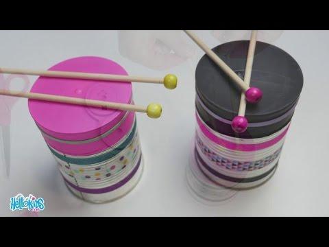 Bricolage carnaval le tambour de mendiant rattle drum hellokids youtube - Fabriquer un atelier de bricolage ...