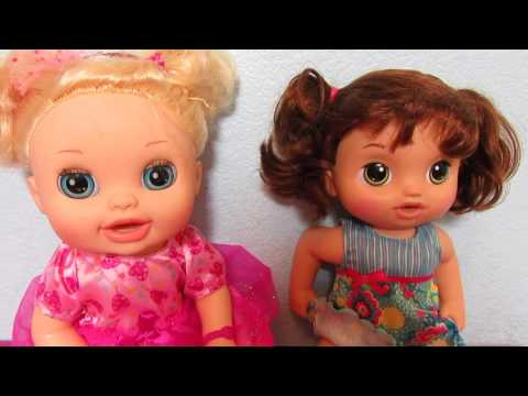BABY ALIVE OUTING TO TARGET with Brownie and Bella!  Bella Shares with her sister!