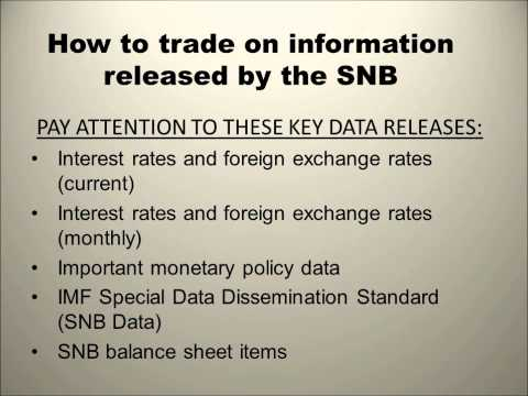 PROFESSIONAL FOREX TRAINING SERIES: Swiss National Bank