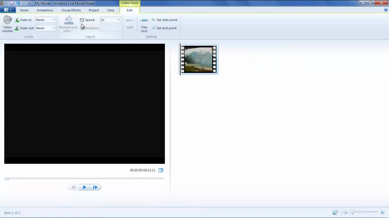 How to Trim, Split and Insert Image in a Video in Movie Maker - YouTube