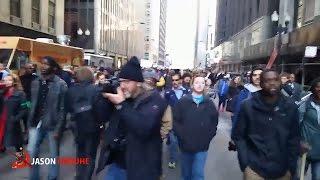Protesters shut down Michigan Avenue in Chicago