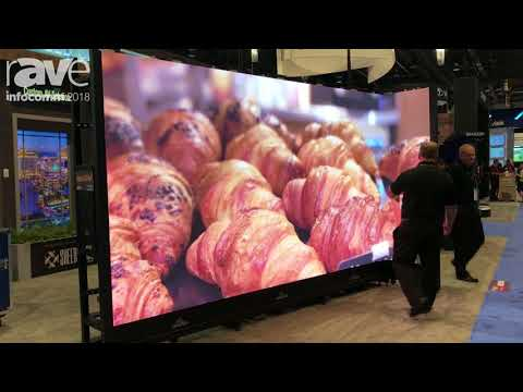 InfoComm 2018: Draper Shows Off Custom LED L-Wall in Partnership With NEC Display