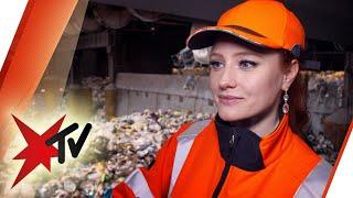 Müllfrau Statt Model: Barbara Meier Macht Den Knochenjob Müllabfuhr   Stern Tv