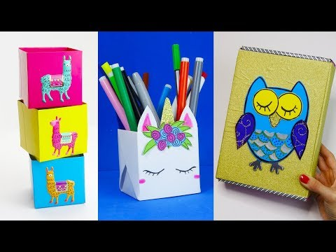 30 DIY School Supplies Easy DIY Paper crafts ideas