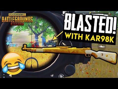 BLASTED WITH KAR98K! Squad DOWN! PUBG Mobile