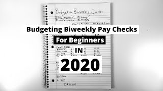 Budgeting for Beginners 2020; Cash Envelope System 2020 | BI-WEEKLY PAY | Mr. Budget