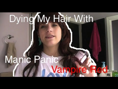 dying my hair manic panic vampire red without bleach