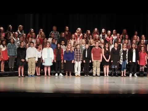 """Sleigh Ride"" Norfolk Middle School 6th grade choir 2017"
