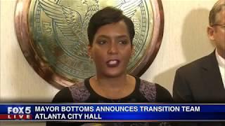 Atlanta Mayor Bottoms announces transition team