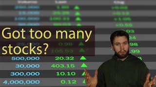 Don't Over-diversify your stock portfolio!
