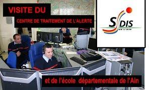 POMPIER visite CTA et l'école departementale du SDIS 01