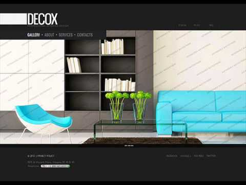 interior design website template - YouTube