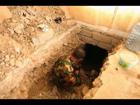 العثور على أنفاق هرب منها مقاتلو داعش الى #الموصل القديمة  - نشر قبل 3 ساعة