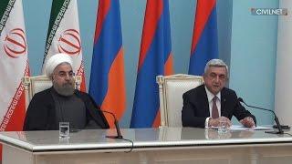 ՀՀ նախագահ Սերժ Սարգսյանի խոսքը Իրանի նախագահ Հասան Ռոհանիի հետ հանդիպմանը