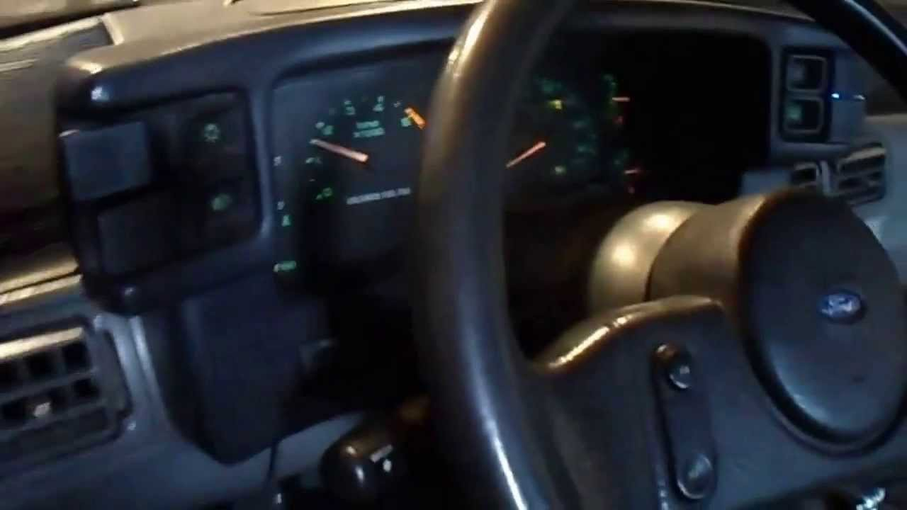 1987 Thru 1993 Ford Mustang Gt One Wire Alternator Update Youtube Wiring Gauges In