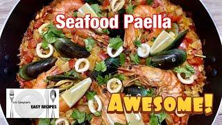 SEAFOOD PAELLA | How To Make An Authentic Spanish Paella | Eric Compton's Easy Recipes