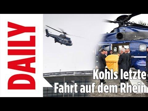 Kohls letzte Fahrt auf seinem geliebten Rhein - BILD Daily Spezial 01.07.17